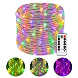 Greenclick LED Rope Lights Outdoor, 46Ft 120 LEDs Battery Operated String Lights Color...