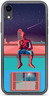 iPhone XR Anti-Scratch Shockproof Clear Case Spider-Man Avengerss Comic Superhero Digital