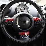 JCW Design John Cooper Works - Tapa adhesiva de plástico ABS compatible con Mini Cooper ONE S JCW R55 Clubman 2010-2016 (volante con botón multimedia)