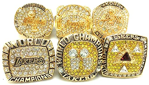 CPBY NBA Los Angeles Lakers 2000 2001 2002 2009 2010 2016 Champion Ring Anneaux Champions, Campeones MVP Champion Anneau Replica De Collection, No Box, 9, Without Box - 9