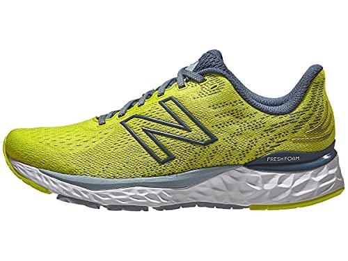 New Balance Mens Fresh Foam Running Shoes, 880V11, Sulphur Yellow/DEEP Ocean Grey, 12