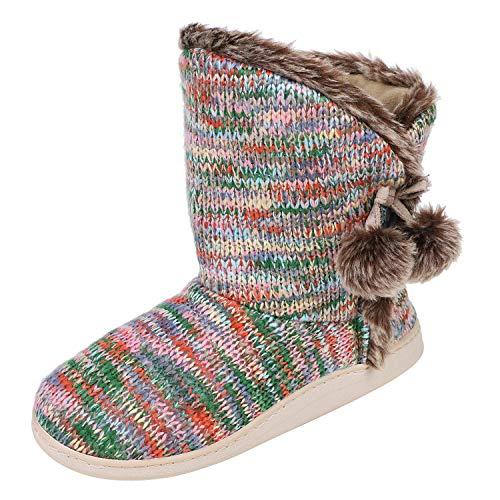 IBLUELOVER Pantuflas Botas Mujeres Hombres Invierno Cálido Zapatillas Casa Zapatos Zapatillas de...