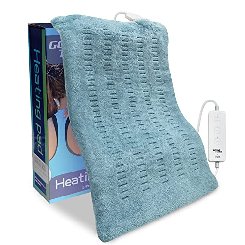 King Size Heating Pad for Back/Waist/Abdomen/Shoulder Pain Relief- 12' x 24' Moist and Dry Heat...