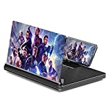 Newseego 12 Inches Phone 3D HD Screen Magnifier, Movies Video Amplifier with Foldable Holder Stand, Eye Protection Against Blue Radiation, Supports All Smartphones-Black