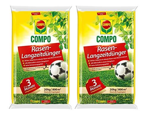 Compo Rasen-Langzeitdünger, 3 Monate Langzeitwirkung, Feingranulat, 40 kg, 1600 m²