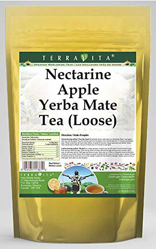 Nectarine Apple Yerba Mate Tea Loose 4 Year-end annual account oz ZIN: 562772 - online shopping 3 P