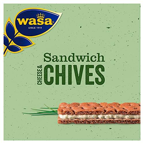 Wasa Sandwich Käse und Schnittlauch Singlepack, 24er Pack (24 x 37 g)