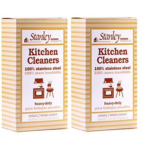 Stanley Home Products Stainless Steel Kitchen Scouring Cleaners (4 Cleaners Included)