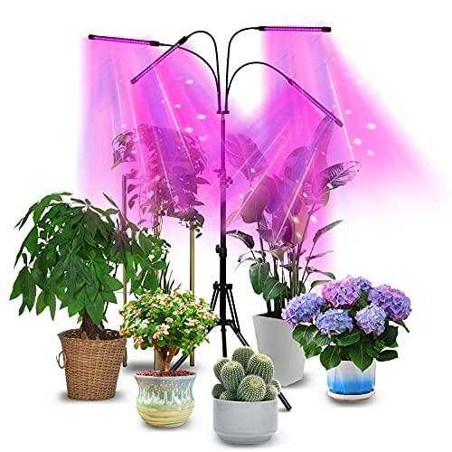 Soporte de lámpara para plantas con mando a distancia por radiofrecuencia, para plantas de interior