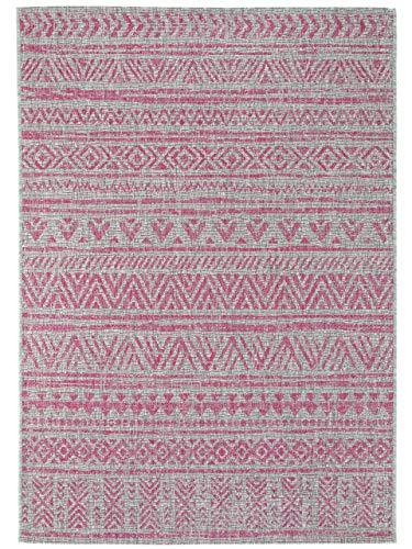 Benuta In- & Outdoor-Teppich Cleo Pink 140x200 cm - Outdoor-Teppich für Balkon & Garten, 4053894760266