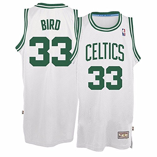 adidas Larry Bird Boston Celtics White Throwback Swingman Jersey Small