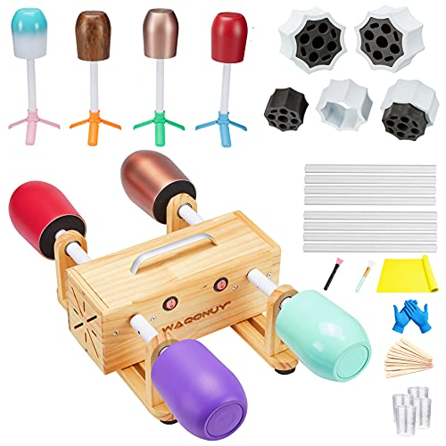 4 Cup Turner for Crafts Tumbler,Epoxy Glitter 4 arms Tumbler Full Kits,DIY Cuptisserie Turner,Cup Spinner Machine Kit with Heat Gun Set for Crafts Epoxy Tumbler