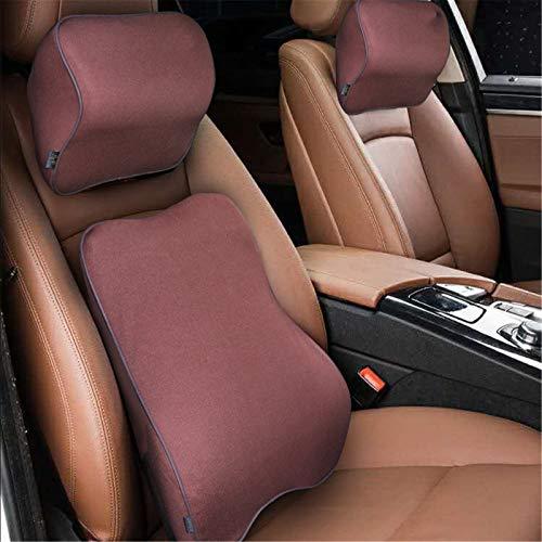 qwert Car Seat Cushion, Car Lumbar Cushion, Lumbar Support Cushion, Used For Car Seat Support, Neck Pillow, Memory Foam Pillow For Lower Back Pain, Seat Supportmocha Brownneck Pillow