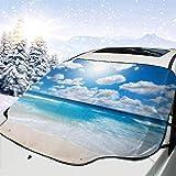 ETGeed Parabrisas del Coche Sun Snow Cover Purple Dandel Front Window Sunlight Snow Cover