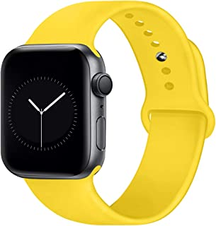 OriBear Compatible with Apple Watch Band 38mm 40mm 42mm 44mm for Women and Men, Soft Durable Silicone iWatch Band Replacement Sport Band Compatible with Apple Watch Series 5, Series 4/3/2/1 S/M M/L