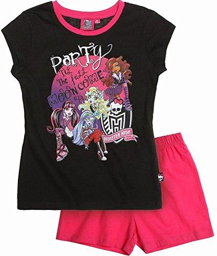 Monster High - Pijama - para niña Negro Black Pinnk