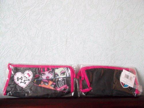 Grande Trousse Monster High noir de 25 x 5 x 11 cm environ à l'éffigie de Frankie Stein,Cleo de Nile et Draculaura- Sacs ASSORTIS VENDU AUSSI AU SEIN DE CETTE BOUTIQUE