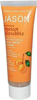 صنفرة مبيضة ومنظفة للوجة بالمشمش Jason Natural Brightening Apricot Scrubble Facial Wash & Scrub 113g