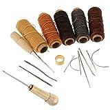 Homyl 18Pcs/Set Sewing Thread Shoe Repair Tools Needle Awl Leather Craft Kit Tools