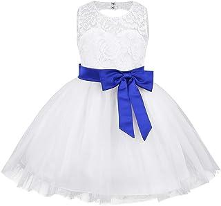 fb3e6a5b97851 Alvivi Enfant Fille Robe Dentelle Tutu Princesse N UD Papillon Robe de  Cérémonie Mariage Demoiselle