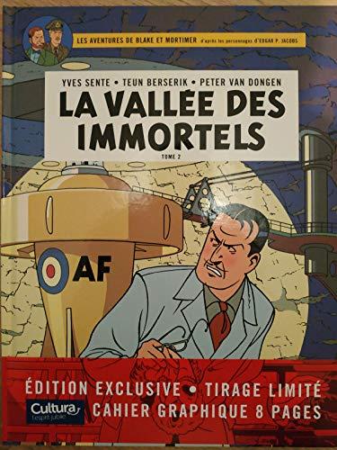 BLAKE ET MORTIMER TOME 26 LA VALLÉE DES IMMORTELS TOME 2 : Le Millième Bras Du Mékong + CAHIER GRAPHIQUE édition spéciale Cultura