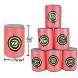 Coollooda Soft Safe EVA Ball Targets para Nerf Shooting Game Red 5 Packs