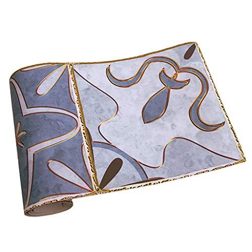 MERIGLARE Etiquetas Engomadas Autoadhesivas del Azulejo del Estilo Nórdico Etiqueta Engomada del Papel Pintado del PVC-20X500cm - #17, Individual