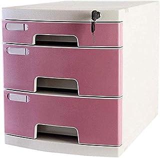 MTYLX Cabinet de Fichiers/Rack, Tiroir À 3 Couches En Plastique de Sécurité de Bureau de Bureau Armoire de Stockage Armoir...