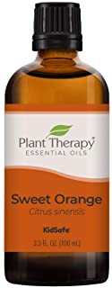 Plant Therapy Sweet Orange Essential Oil 100% Pure, Undiluted, Natural Aromatherapy, Therapeutic Grade 100 mL (3.3 oz)