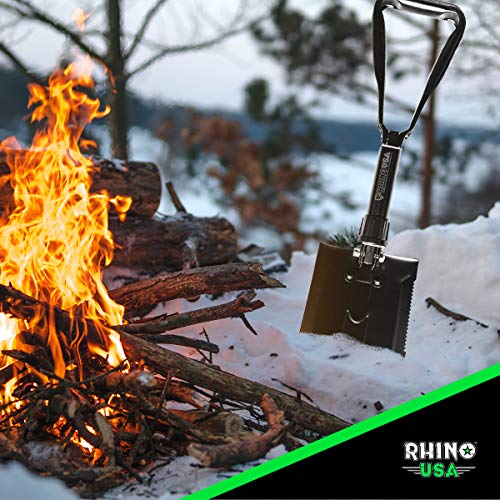 Rhino USA Folding Survival Shovel