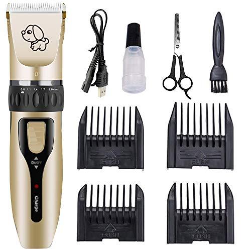 Galapara Cortapelos para Perros/Mascotas eléctrico bajo Recargable Ruido Kit de cortapelos Profesional/Buen...