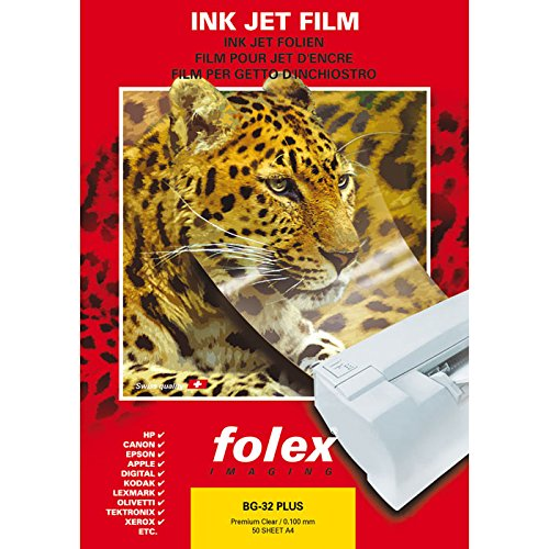 Folex FX300.99 Ink Jet Folie DIN A4 50 Blatt, transparent