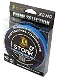 Stork HDx8, 8-hilo trenzado pesca premium 300m (Azul, 30 lbs / 13.6 kg / 0.22 mm)