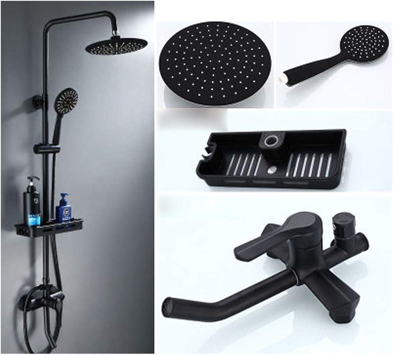 Duschset, Liftkompressor-Dusche, Multifunktionsdusche, regulierbare Temperaturregelung, Badezimmerdusche, Lift-Booster-Duschkopf, Multifunktionsdusche, regulierbares Mutterschaftswaschset,-schwarz3