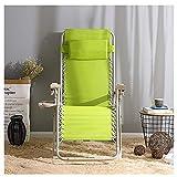 XinQing-sofá Perezoso Silla reclinable Plegable Sillón de Cama Simple Silla de Oficina portátil Sofá Silla de Playa al Aire Libre Dos Colores 66 × 72 cm (Color : Light Green)