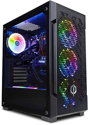 CyberpowerPC Warrior Gaming PC - Intel Core i7-9700KF, Nvidia GTX 1660 Super 6GB, 16GB RAM, 960GB SSD, 400W 80+ PSU, Wi-Fi, Windows 10, Liquid Cooling, 220T Black