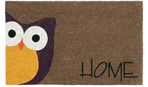 LAKO Cocoprint Colori, Kokos, 519 Tier Eule Schrift Home, 75 x 45 x 1,5