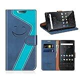 MOBESV Smiley Blackberry Key2 Wallet Case, Blackberry Key2