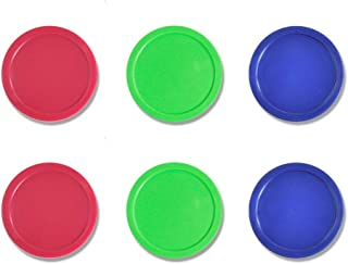 Lemon home 6 Pack 3 1/4 Inch Air Hockey Pucks for Full Size Air Hockey Tables - Large Size for Adults 82mm