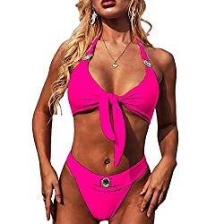 Purple Sequins 2PCS Bikini Set Tankini Sexy Bra Swimsuit