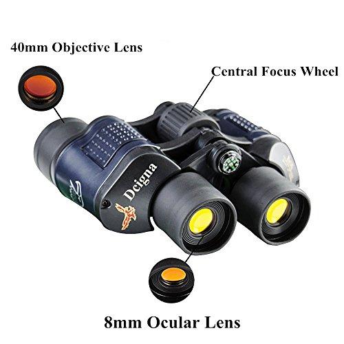 DCIGNA Binoculars For Adults, Night Vision Binoculars, Binoculars For Kids, Field Of View 3000M Waterproof Binoculars For Hunting Travelling Bird Watching