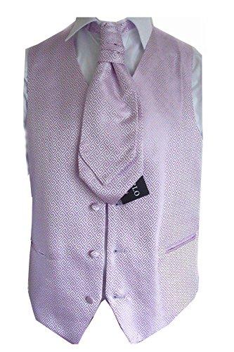 """Elegance1234 Mariage de la qualité Motif géométrique Gilet Violet l'ensemble des Hommes (ref:Purple Geometric Waistcoat) (M (40""""))"""