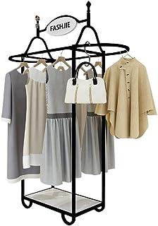 JIE- Porte-vêtements/Présentoir en Fer - Support De Rangement en Bas, Adapté pour Ranger Les Vêtements/Chaussures dans La ...