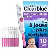 Test d'Ovulation Clearblue Digital, Vous Aide A Concevoir, C'est Prouvé, 1 Appareil Digital Et 10 Tests