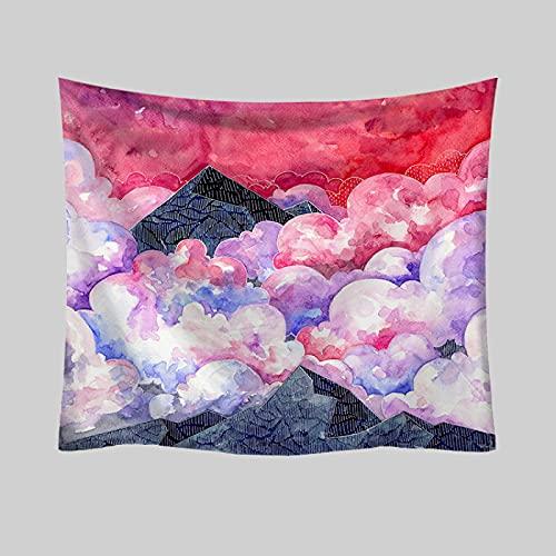 NHhuai Tessuto in Poliestere arazzo per dormitorio,Camera da Letto,Soggiorno Decorazioni Asciugamano da Spiaggia arazzo Decorativo in Tessuto Appeso Stampa a Colori Fantasma