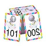 Big Live Sale Lot de 100 étiquettes en plastique réutilisables avec miroir normal et inversé Taille 8,6 x 5,3 cm (101-200)