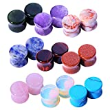 wood 5 8 plugs - BodyJ4You 18PC Stone Ear Plugs 4G (5mm) Double Flare Saddle Stretching Gauges Expander