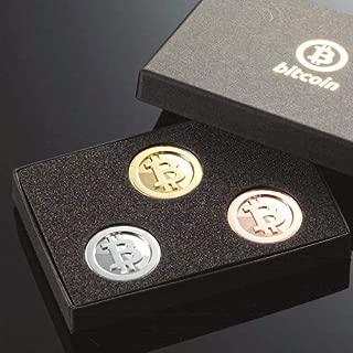 ビットコイン Bitcoin 金銀銅メッキ仕上げ コイン収集用