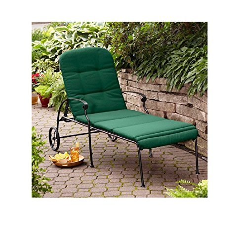 Better Homes & Gardens Clayton Court Chaise Lounge with Wheels, Green