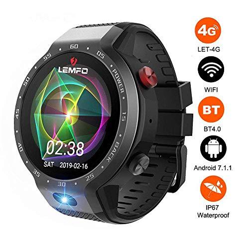 ZHTY Smart Watch 4G 5MP Fotocamera Frontale Dual Systems 16GB + 1GB Standby 5 Giorni Bluetooth Smartwatch GPS Impermeabile WiFi per Uomo Donna Donna Regalo